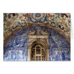 Europa, Portugal, Obidos. Arquitectónico colorido Tarjeta De Felicitación