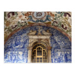 Europa, Portugal, Obidos. Arquitectónico colorido Postal