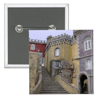 Europa, Portugal, Sintra. El nacional 2 de Pena Pin Cuadrada 5 Cm