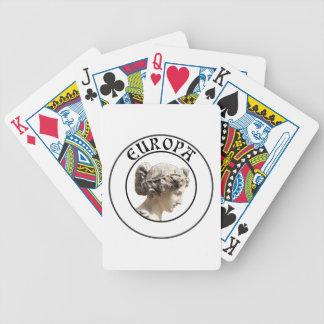 Europa: ¡Sea orgulloso mostrar sus raíces euro! Baraja Cartas De Poker