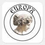 Europa: ¡Sea orgulloso mostrar sus raíces euro! Calcomania Cuadradas