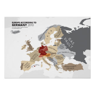 Europa según Alemania Posters