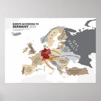 Europa según Alemania Póster
