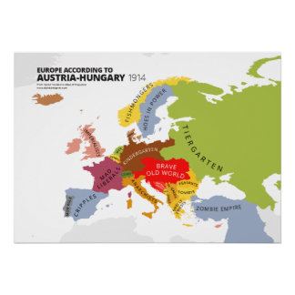 Europa según Austria-Hungría Impresiones