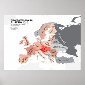 Europa según Austria Póster