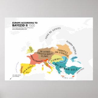 Europa según Bayezid II Póster