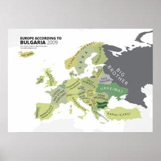 Europa según Bulgaria Posters