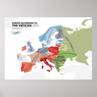 Europa según el Vatican Impresiones
