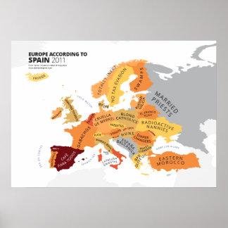 Europa según España Póster