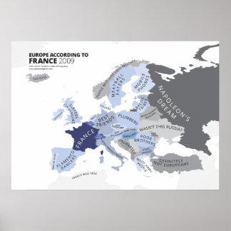 Europa según Francia Póster