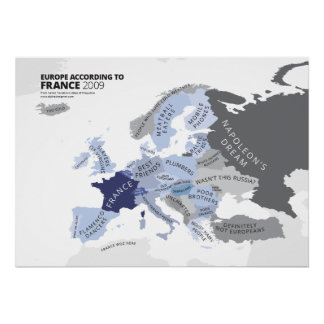Europa según Francia Posters