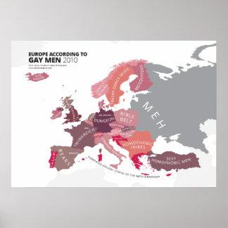 Europa según hombres gay impresiones