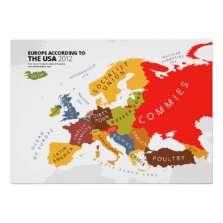 Europa según los E.E.U.U. Poster