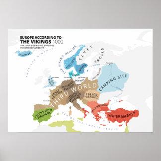 Europa según los Vikingos Póster