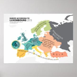 Europa según Luxemburgo Poster