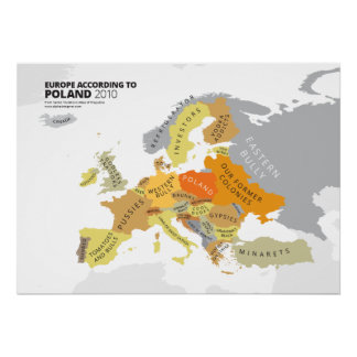 Europa según Polonia Poster