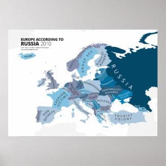 Europa según Rusia Póster