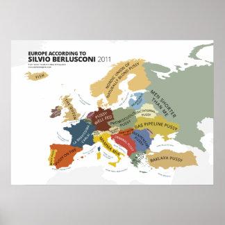 Europa según Silvio Berlusconi Póster