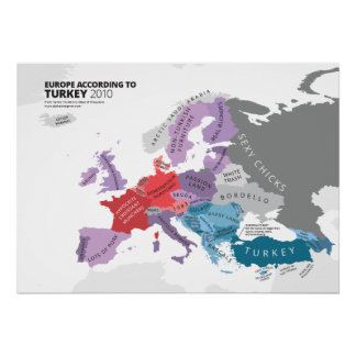 Europa según Turquía Posters
