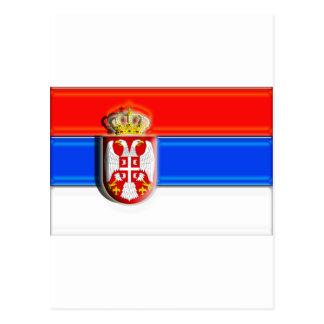 Europa: Serbia (bandera del artista) Tarjetas Postales