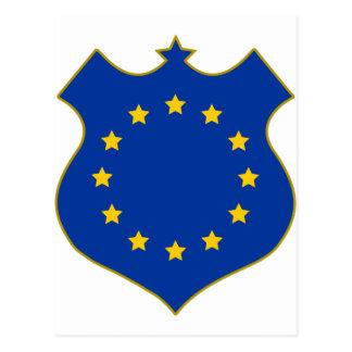 Europa-shield png tarjeta postal
