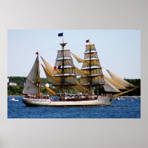 Europa Tall Ship Poster