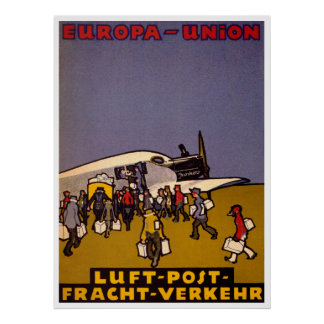Europa-Union Luft Post Posters