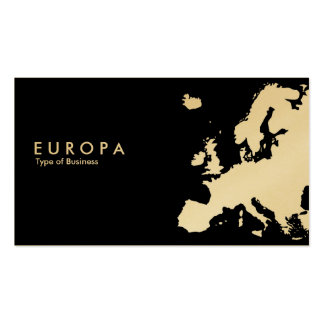 EUROPA v2- Gold Double-Sided Standard Business Cards (Pack Of 100)