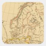 Europa vieja calcomania cuadradas personalizadas
