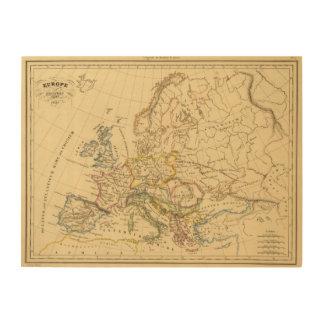 Europa vieja impresiones en madera