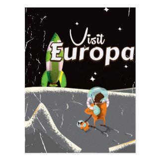 Europa vintage travel poster postcard