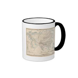 Europa y Asia físicas Tazas De Café