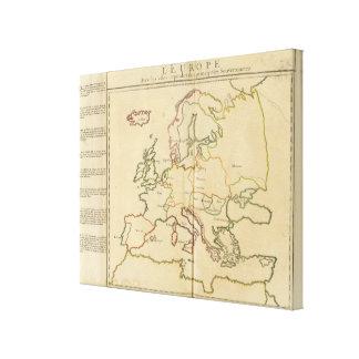 Europa y ciudades importantes impresiones en lienzo estiradas