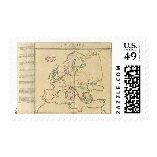 Europa y ciudades importantes sellos