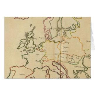 Europa y ciudades importantes tarjeta de felicitación