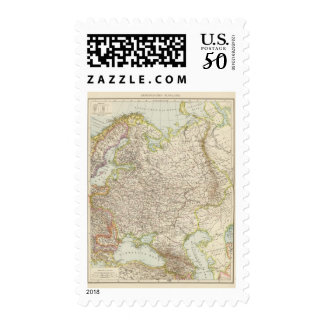 Europaisches Russland - Map of Europe and Russia Postage