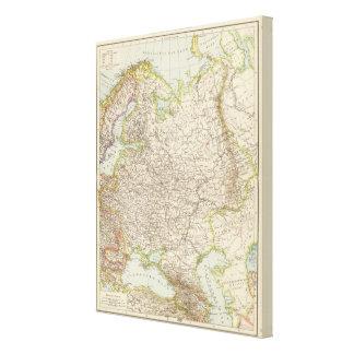 Europaisches Russland - mapa de Europa y de Rusia Impresion De Lienzo