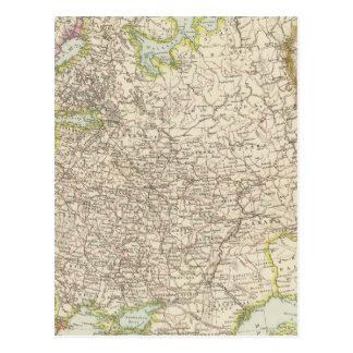Europaisches Russland - mapa de Europa y de Rusia Tarjeta Postal