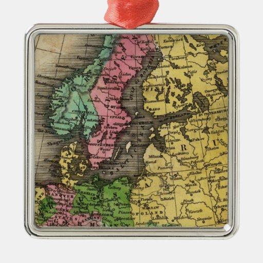 Europe 12 christmas ornament