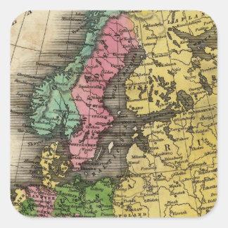 Europe 12 square sticker