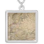 Europe 17 square pendant necklace