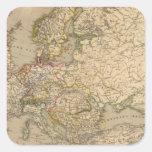 Europe 17 square sticker