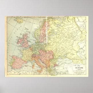 Europe: 1914 poster