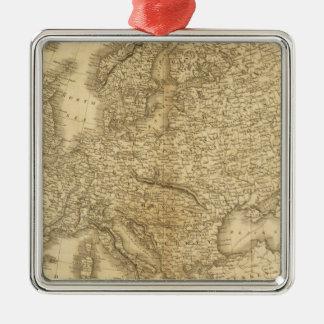 Europe 19 square metal christmas ornament
