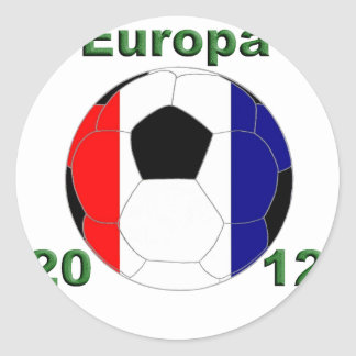 Europe 2012 France Classic Round Sticker