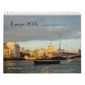 Europe 2013 by Stuart J DuBreuil & Yoko Gushi (v2) Calendar