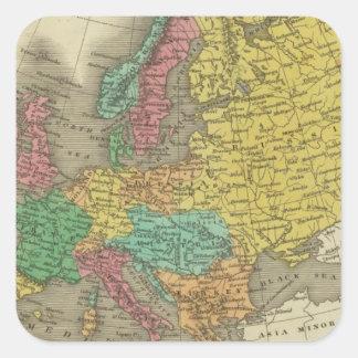 Europe 2 square sticker