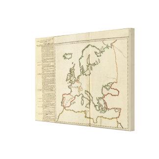 Europe 32 canvas print