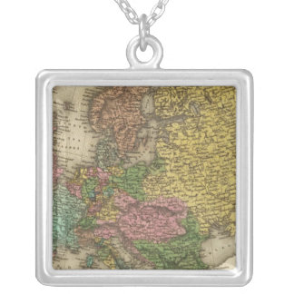 Europe 32 square pendant necklace