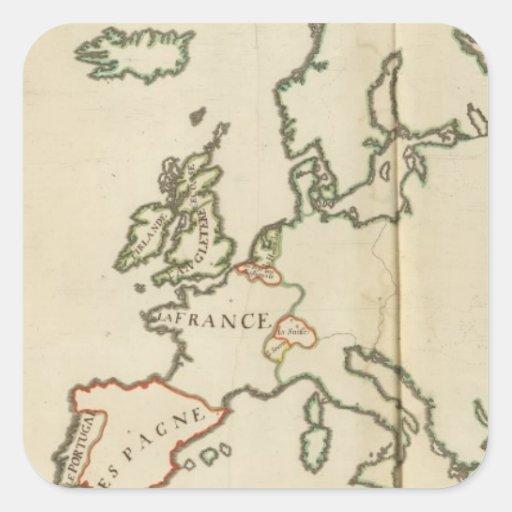Europe 32 square sticker